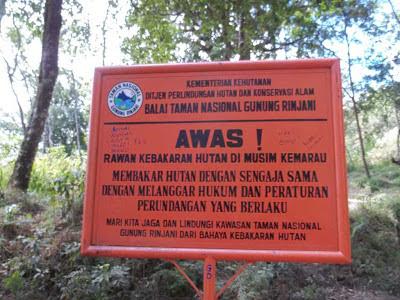 peringatan kebakaran hutan