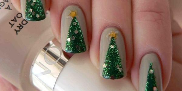 Christmas Tree Nail Art Step By Step Tutorials