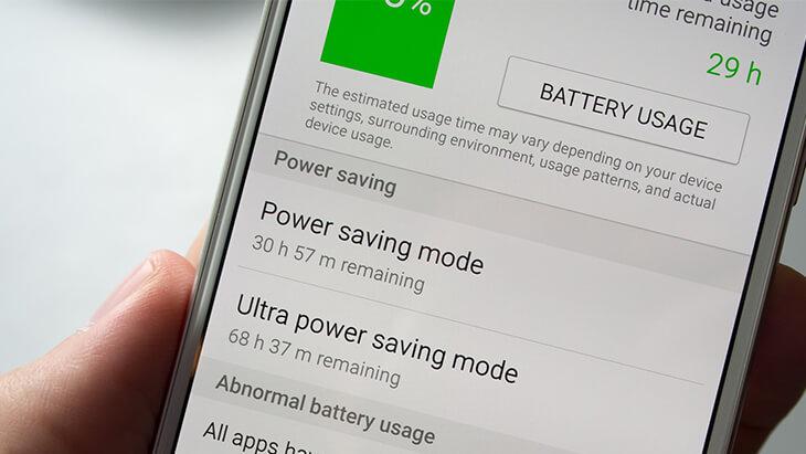 Galaxy S6 modos de ahorro de energía