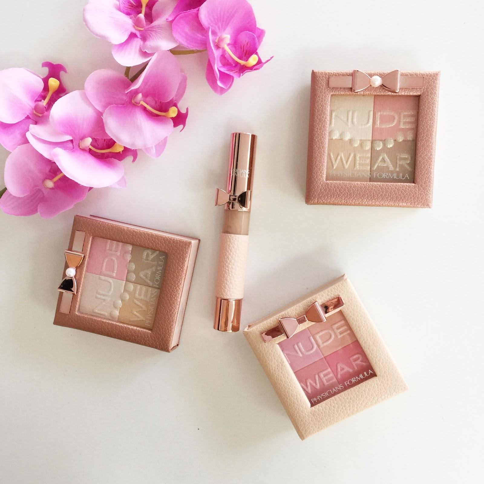 The range includes two Nude Wear Glow Palettes, a Nude Wear Blush and a Nude  Wear Touch of Glow Miracle Tool.