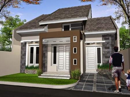 Desain Rumah Minimalis 3D Modern type 36