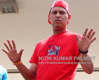 Yuvraj Singh Cancer Survivor Palm Reading