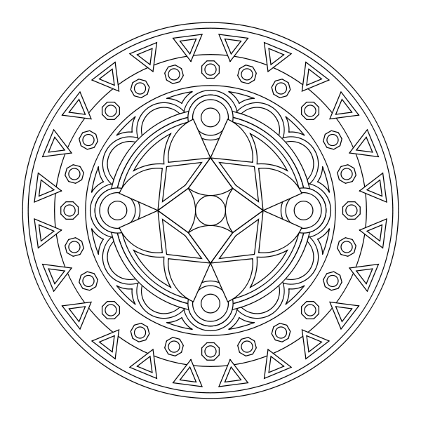 Free Mandala Coloring Pages Wallpaper