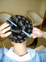 how to make braided bun long hair