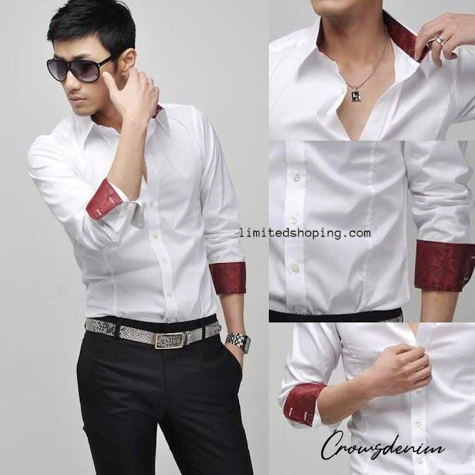 limited shoping sk10 jual kemeja putih korean style