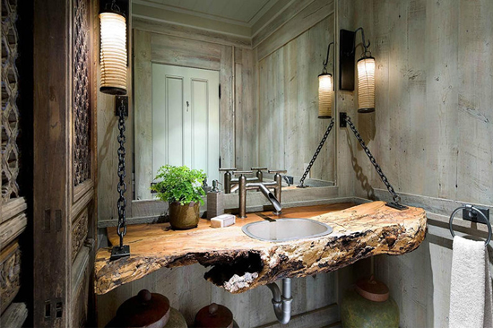 Pias de banheiro mais bizarras - Rústica ecológica