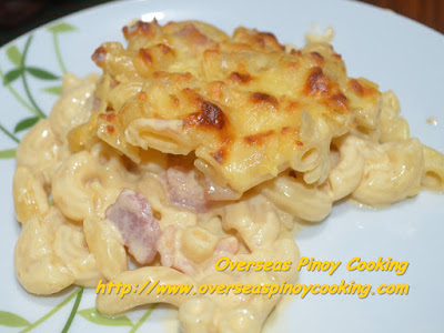 Baked Macaroni and Cheese Pinoy Style