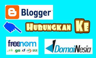 cara menghubungkan blogspot / blogger dengan domain sendiri dan freenom