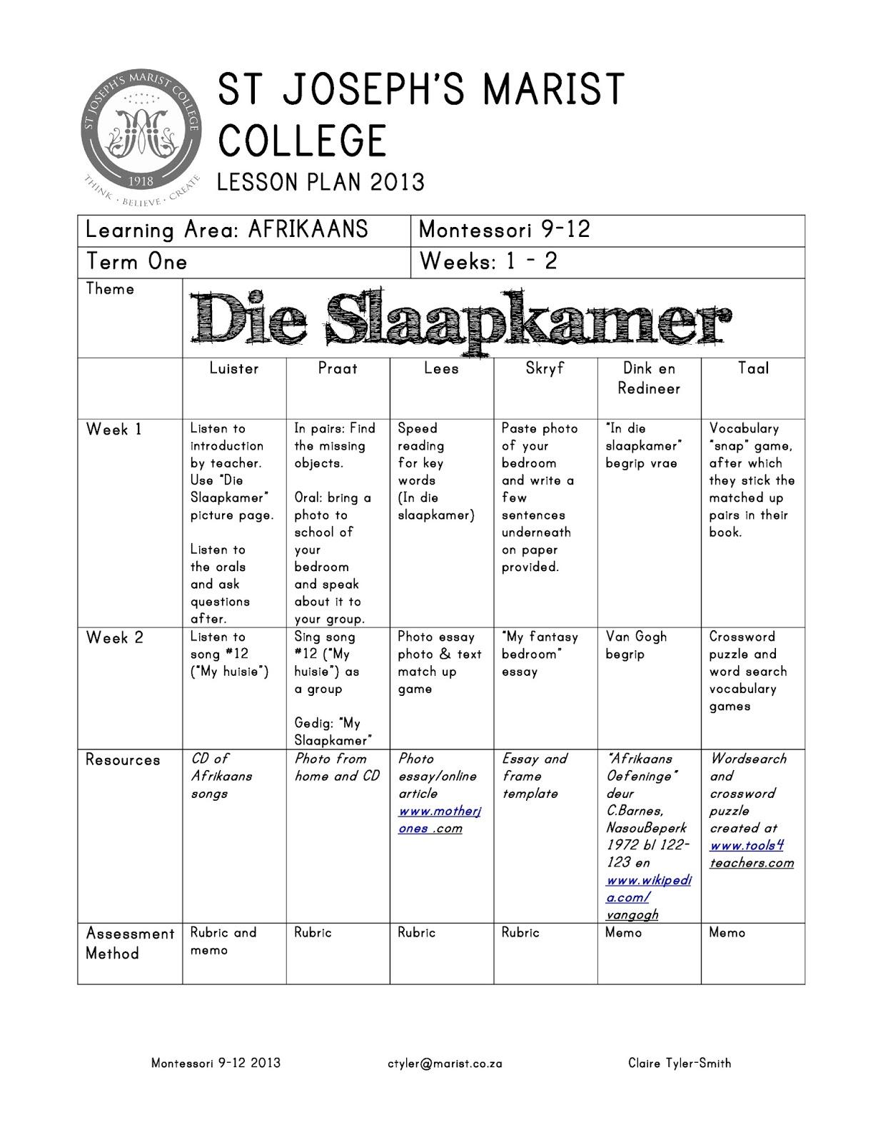 Afrikaans Essay Topics For Grade 10