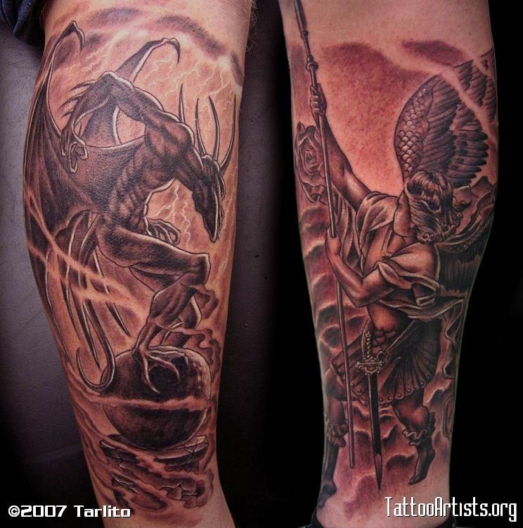 Tattoo Designs Devil: Tattoo Donkey: Angel Devil Tattoo Design