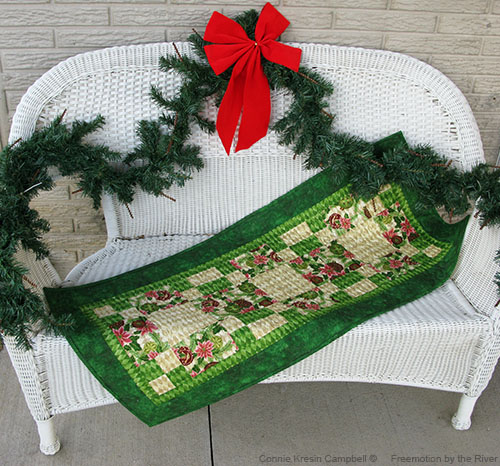 Peace on Earth table runner tutorial by Connie Kresin Campbell l Freemotion by the River