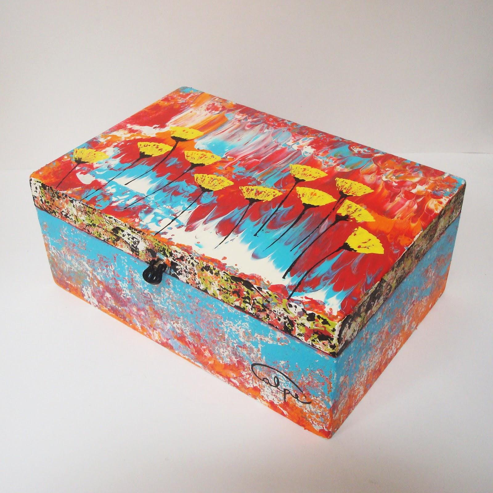 Calpearts cajas pintadas a mano - Cajas decoradas a mano ...
