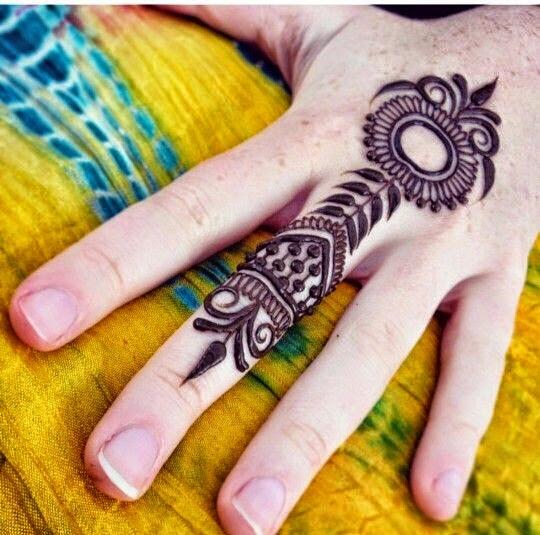 Marvelous Mehndi For Fingers