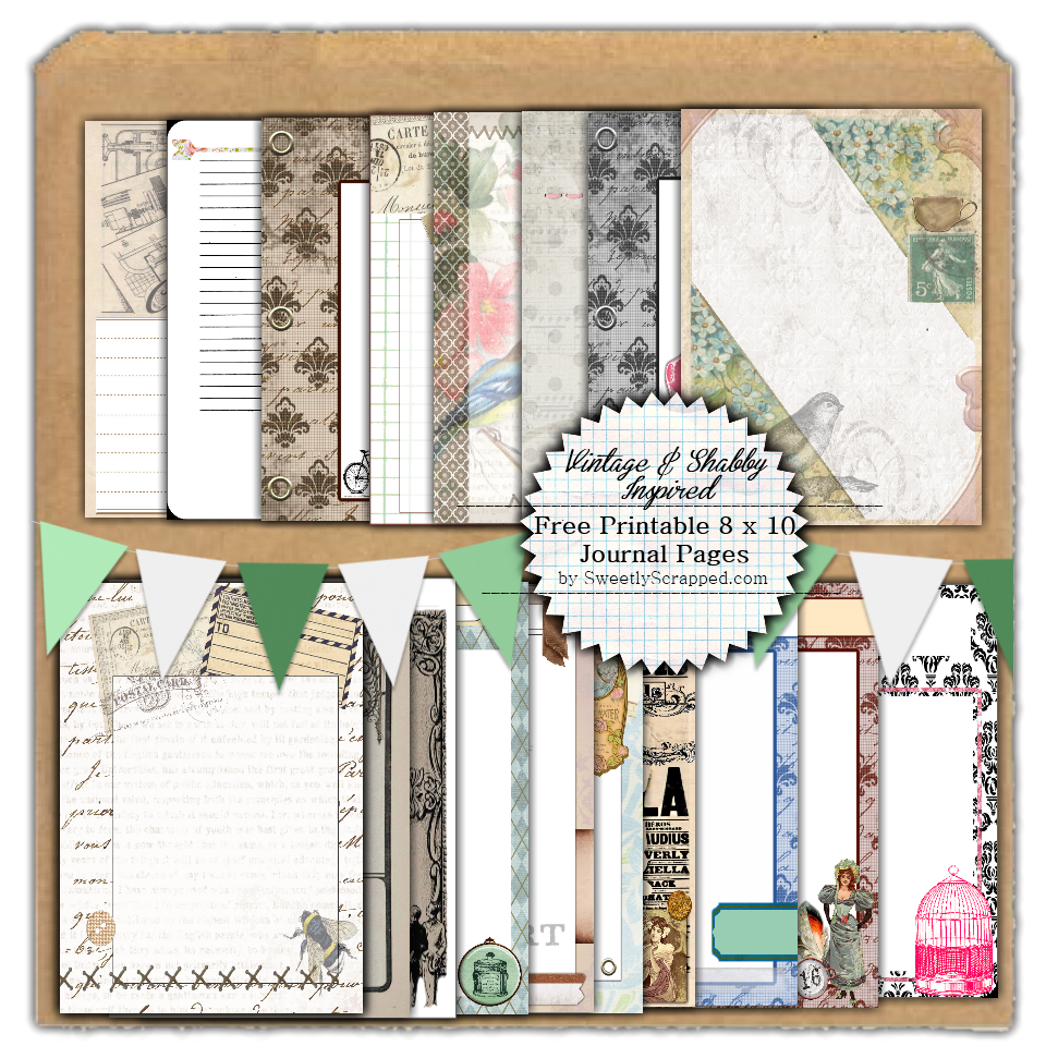 Sweetly Scrapped: Freebie Printable Journal Pages