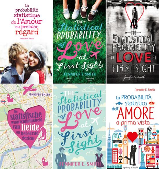 variações das capas do livro a probabilidade estatóstica do amor à primeira vista