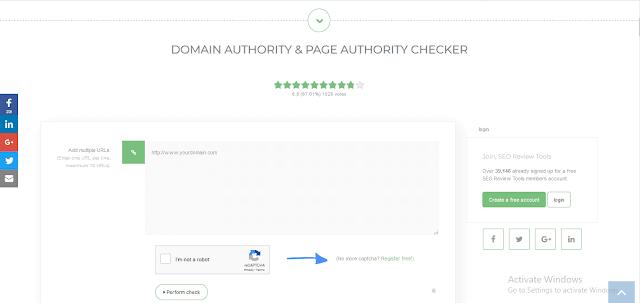 Cara Menge-cek Nilai Page Authority ( PA ) Dan Domain Authority ( DA ) Suatu Blog