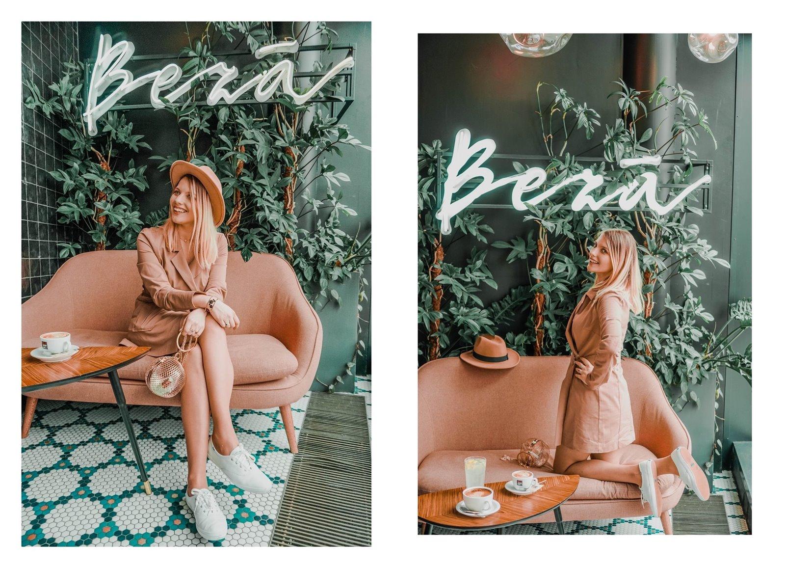 6a nakd sukienka julia wieniawa kolekcja ubrań cena gdzie kupić sukienka trendy na wiosnę 2019 sukienka o kroju płaszcza jak nosić kapelusz złota biżuteria apart torebka asos outlet satisfashion ocena jakość opinie łódź