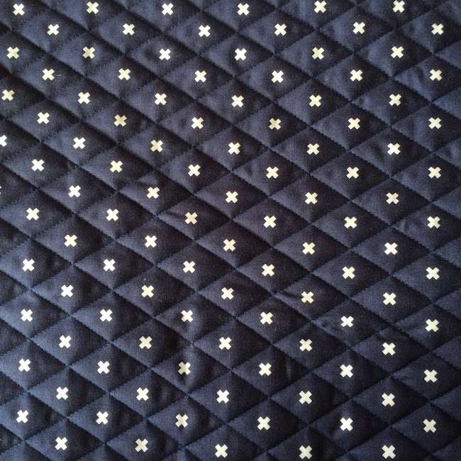 fabric quilted with cross hatch