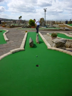 Playing at Strokes Adventure Golf in Margate