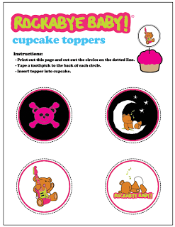 Rockabye Baby Cupcake Toppers.
