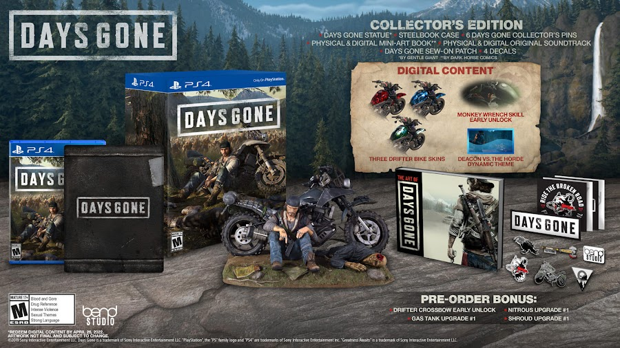days gone ps4 collector's edition