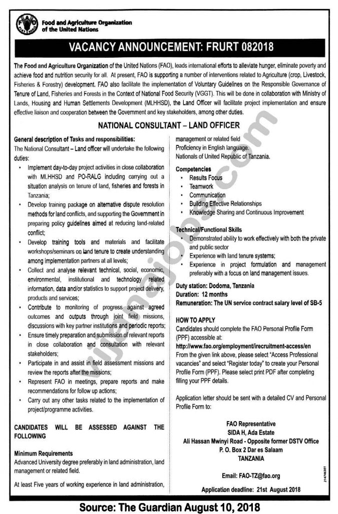 Tanroads jobs in tanzania - Insurance compliance officer job description ...