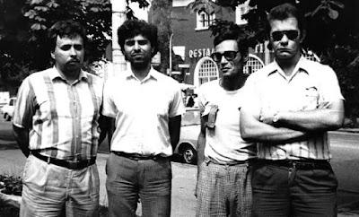 Turneul de Scrabble Brasov 1988. Nicolae Marinescu, Ninel Aldea, Dan Valentin Botez si Aurelian Popescu.