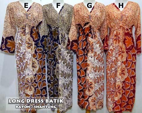 Long Dress Batik Pekalongan Murah