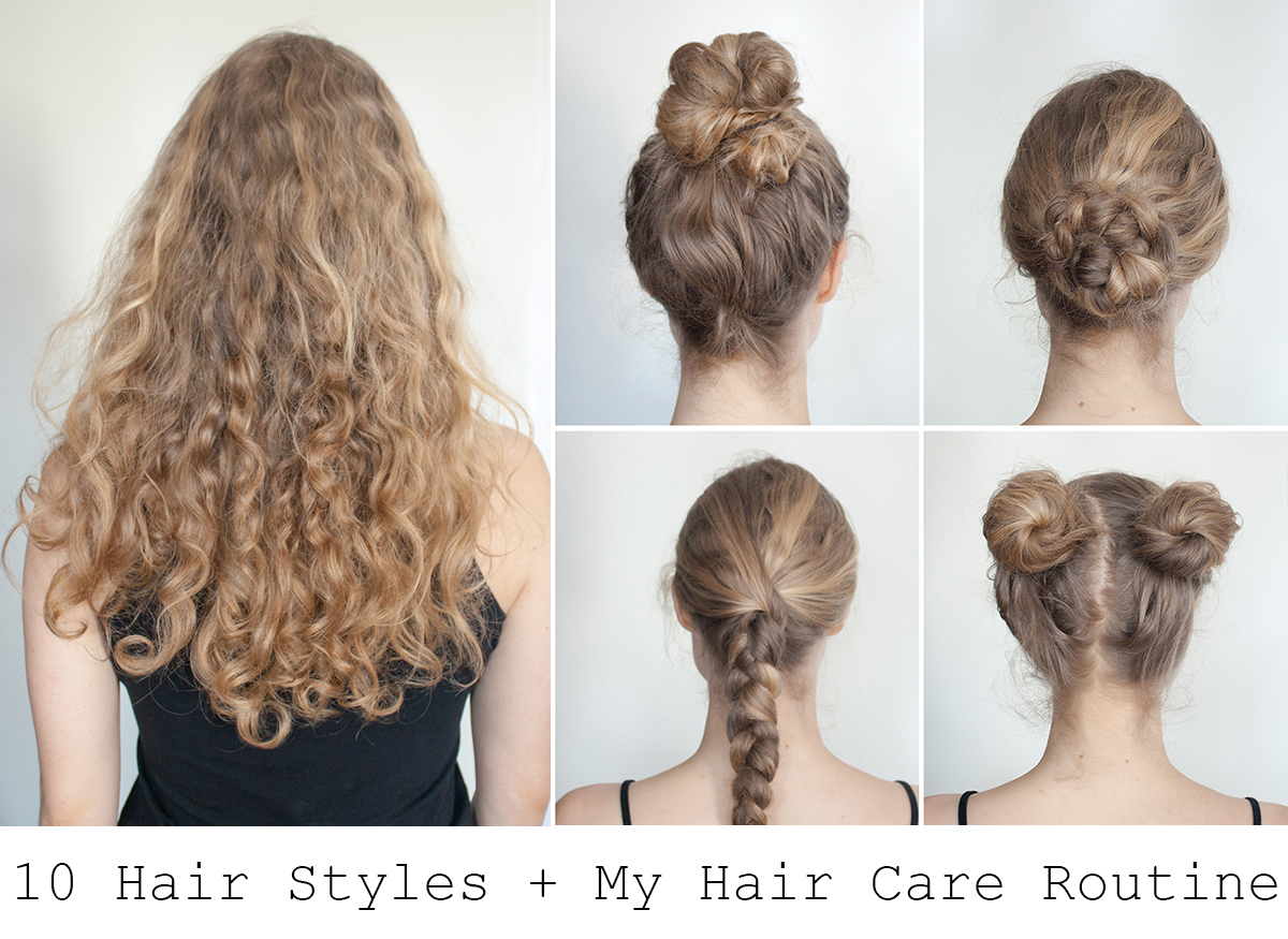 10 Easy Hairstyles For Long Hair + My Routine