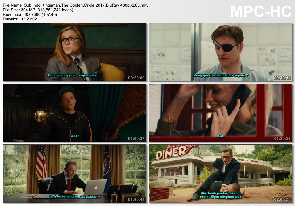 Screenshots Download Film Gratis Kingsman: The Golden Circle (2017) BluRay 480p MP4 Subtitle Indonesia 3GP Nonton Film Gratis Free Full Movie Streaming