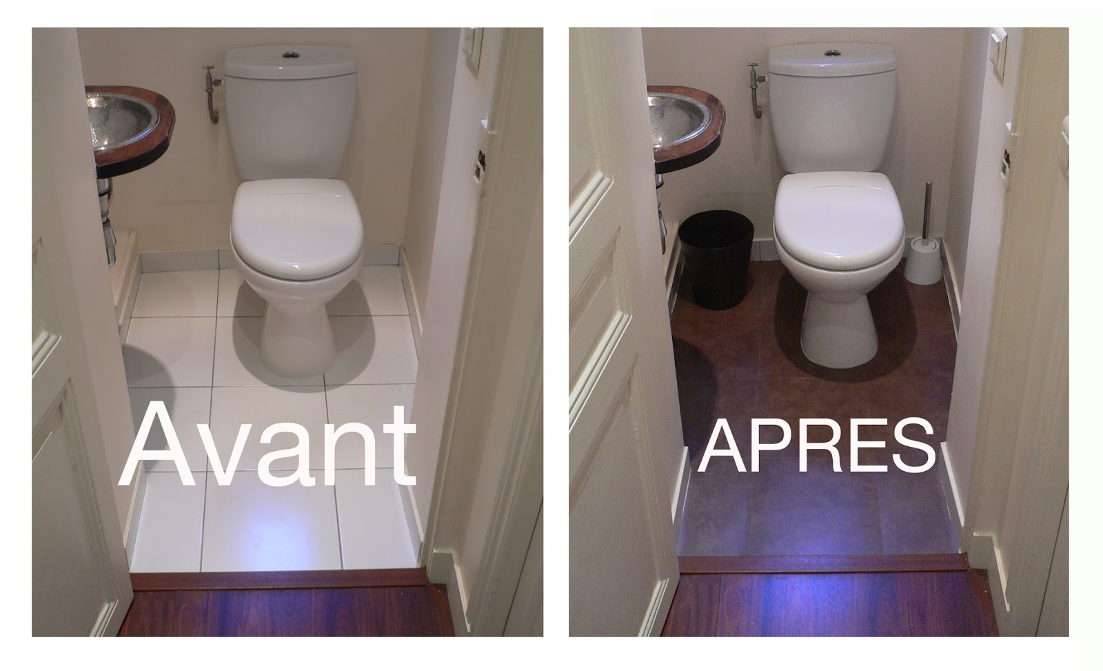poser du lino dans un wc. Black Bedroom Furniture Sets. Home Design Ideas