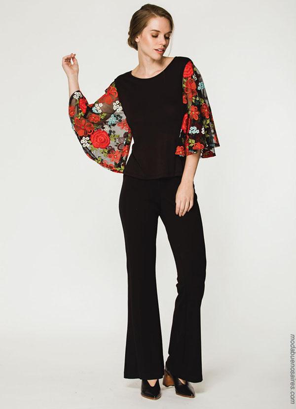 Blusas de moda 2018. Clásicos urbanos reversionados: Looks otoño invierno 2018 by Asterisco ropa de mujer.| Moda otoño invierno 2018.