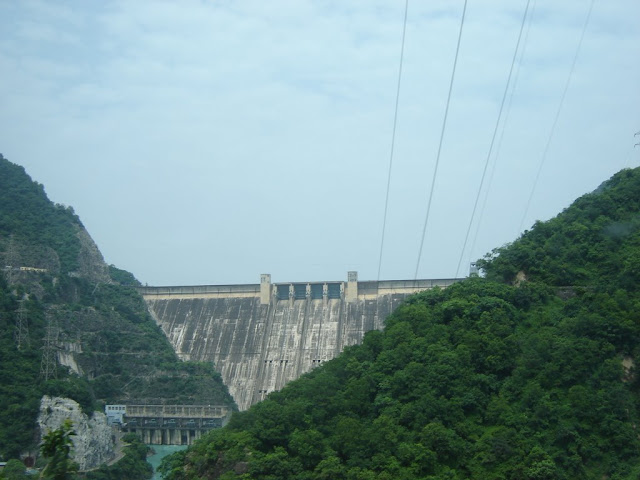 Bhakra Dam Side view from mountain