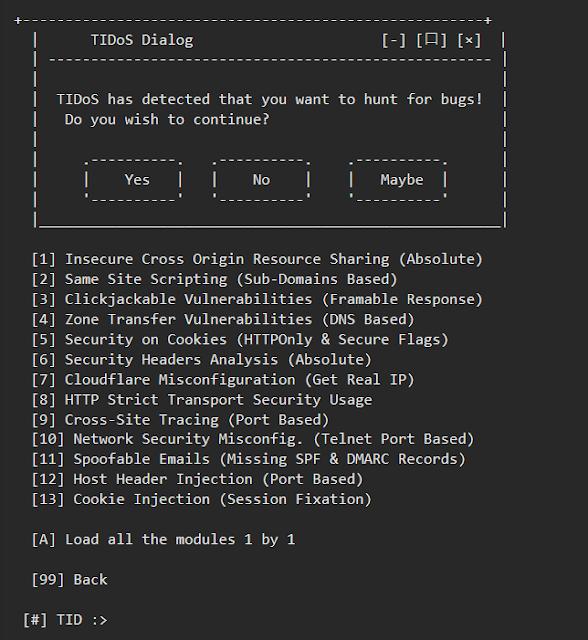 TIDoS اختبار الاختراق في مواقع الويبباستخدام
