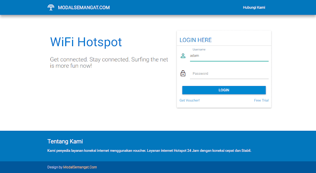 Template Login Page Hotspot MikroTik MATERIALFREE #1