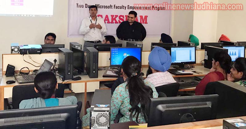 Students and expert during two days Microsoft Saksham Faculty Development Programme organized at GGI