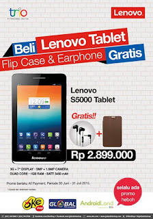Lenovo S5000 Promo Bonus Flip case dan Earphone