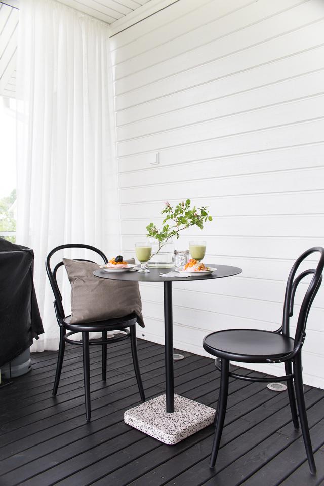 Terassipöytä Hay, ton no 14 tuoli, ton tuoli, terassi