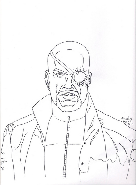 nick fury coloring pages nick fury from avengers colouring pages