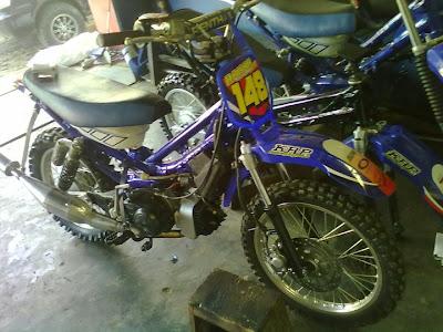 Modif Rangka Motor Bebek Jadi Trail