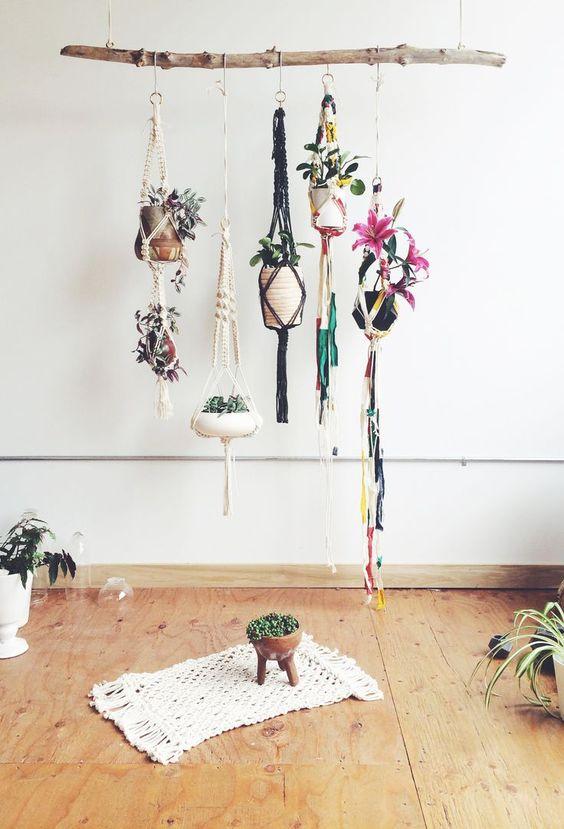macetero de boda con macrame - decora tu boda con macrame