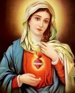 Imagen de la Virgen María a colores