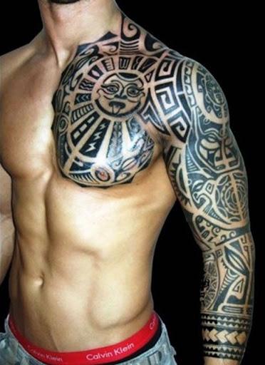 Este polinésia pug tatuagem
