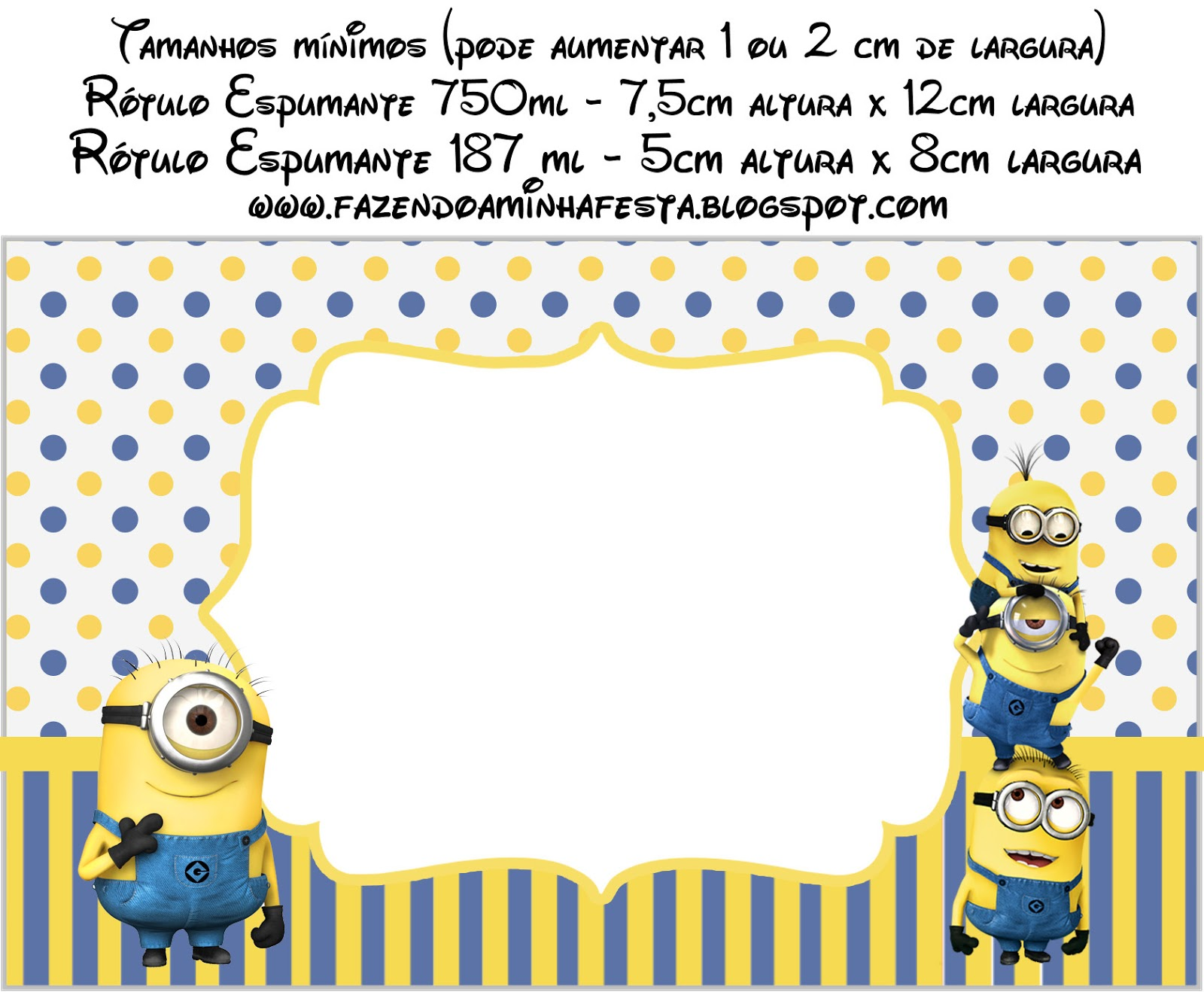 Inspired In Minions Free Printable Labels Oh My Fiesta