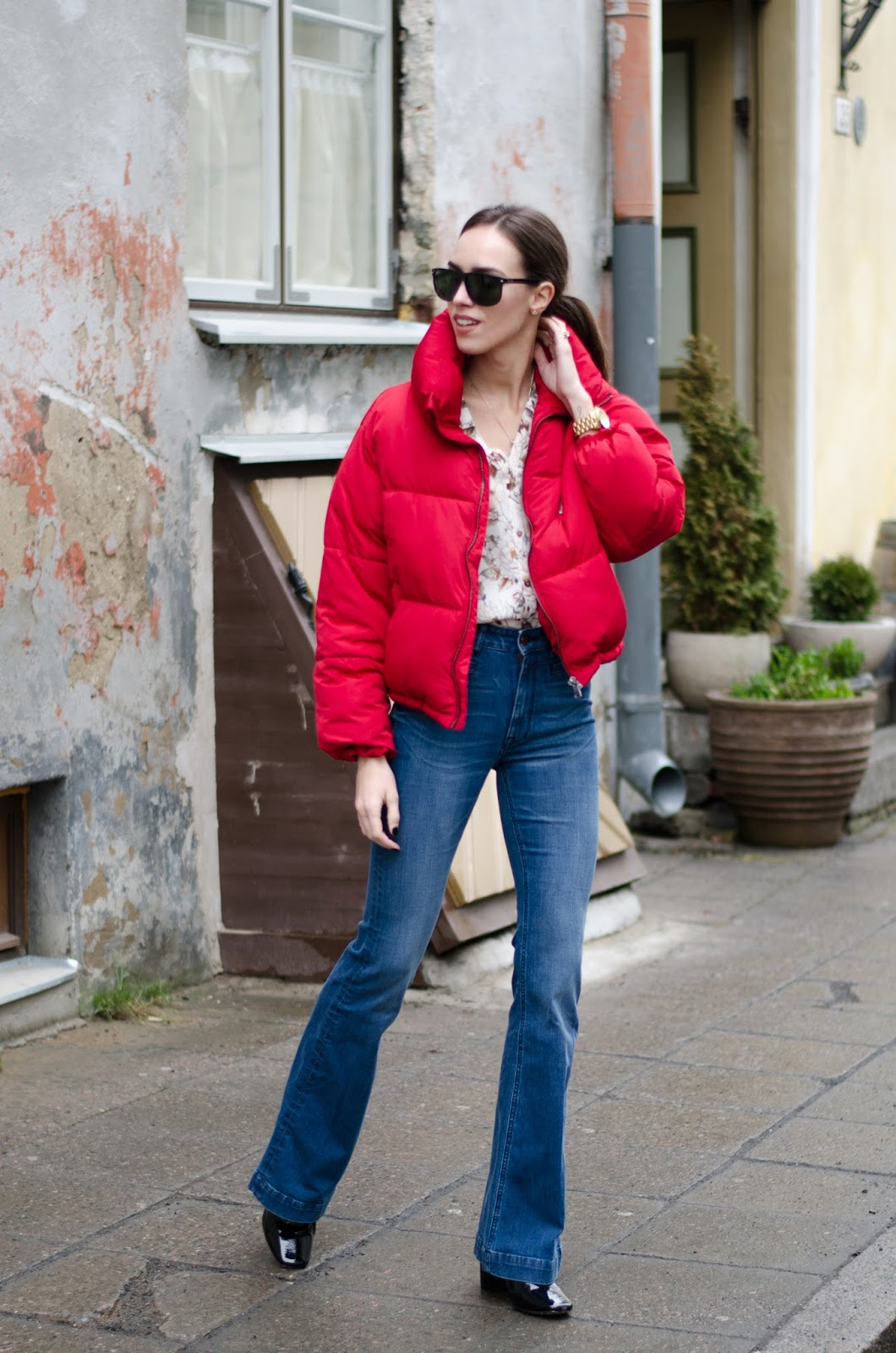 puffy jacket outfit winter