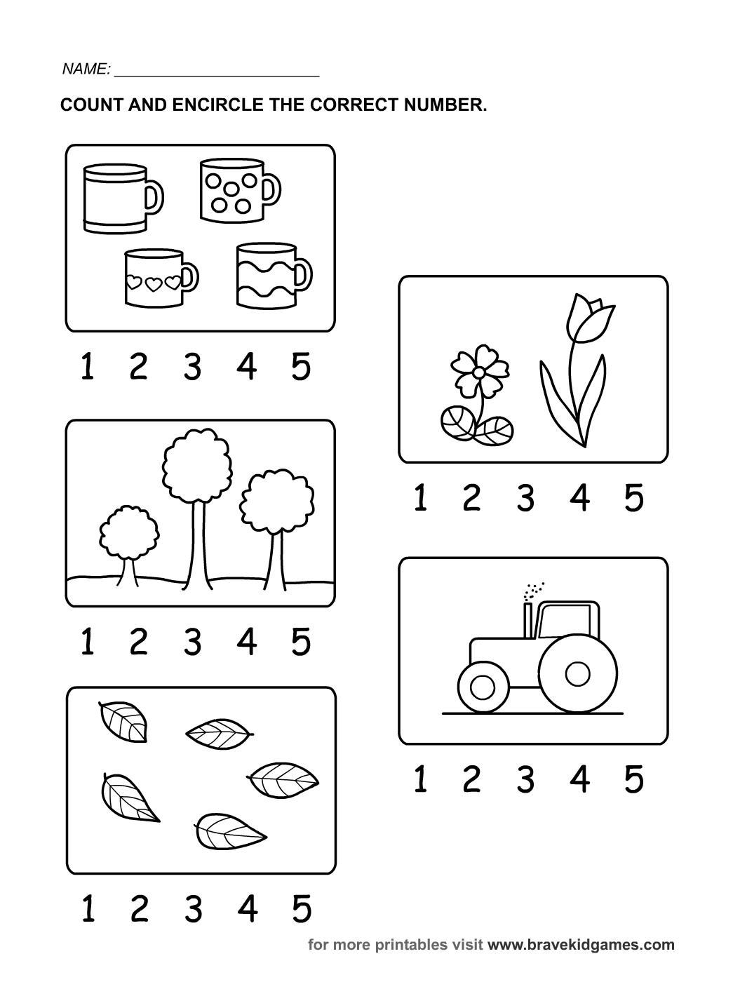 Ingles Para Ninos Fichas Numbers