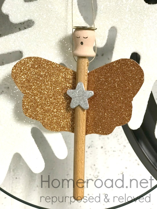 Glitter Wing Angel Ornaments for the holiday fair