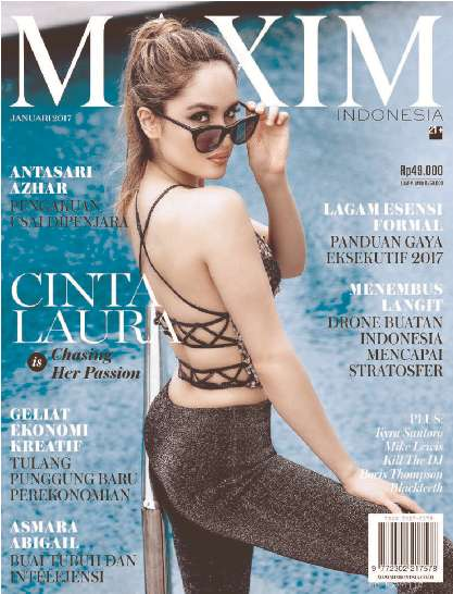 Download Majalah MAXIM Indonesia Edisi Januari 2017 Cinta Laura - www.insight-zone.com