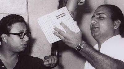 संगीतकार आर डी बर्मन के साथ मोहम्मद रफी