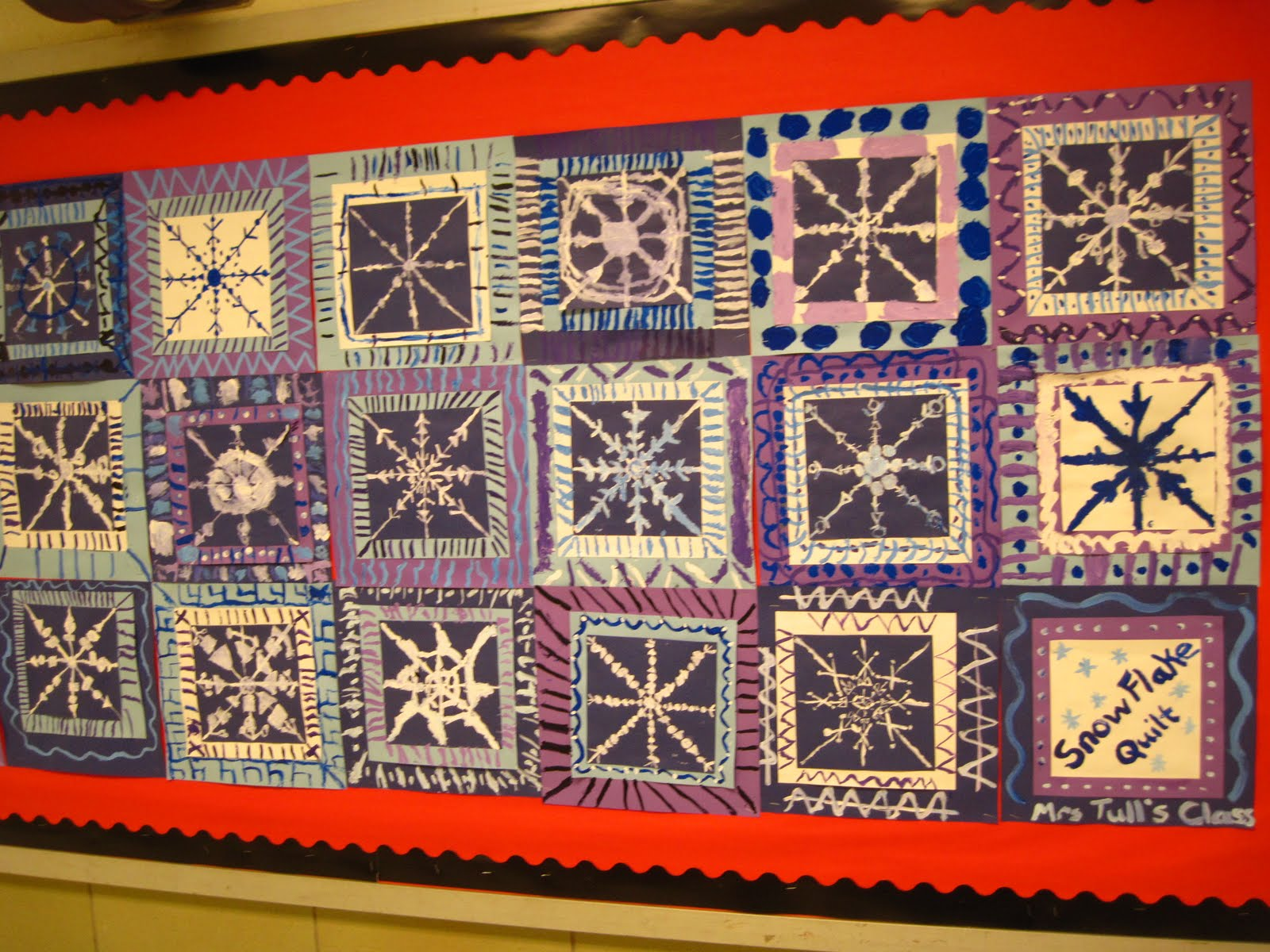 Lines Dots And Doodles Snowflake Quilt 3 5th Grade